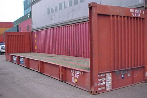 40' Container - 8'6'' - Type Flatrack - Model Fixed End