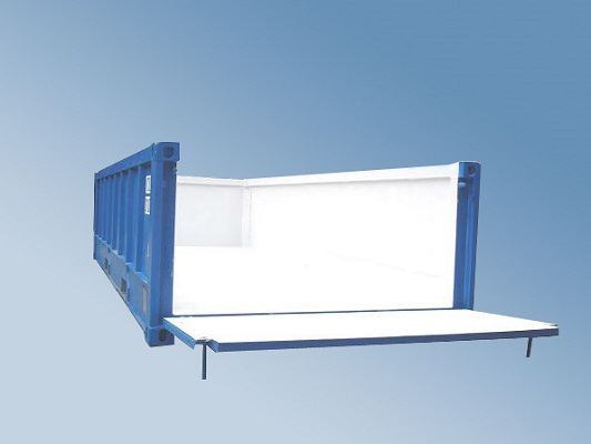 Halfhoge container
